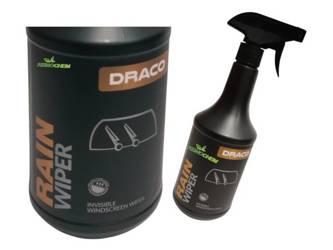 DRACO Rain Wiper 0,75L NIEWIDZIALNE WYCIERACZKI hydrofobowa powłoka