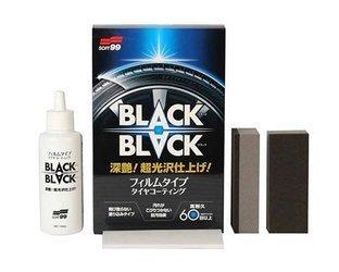 SOFT99 Black Black Hard Coat for Tire satynowa powłoka do kół i opon Połysk na opony Czernidło Dressing Zabezpieczenie