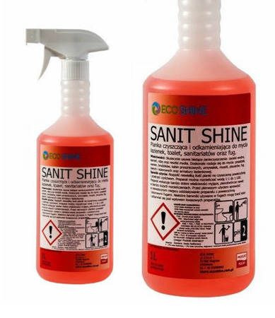 SANIT SHINE 1L PIANKA mycie i odkamienianie toalet