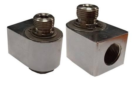 Złącze obrotowe 90 Ż1/4  M1/4 mocowanie