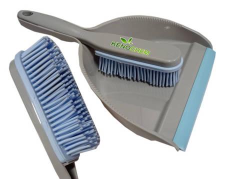 Zmiotka gumowa z szufelką Antybakteryjna ze srebrem Usuwa Sierść Włosy Kurz do salonu fryzjerskiego